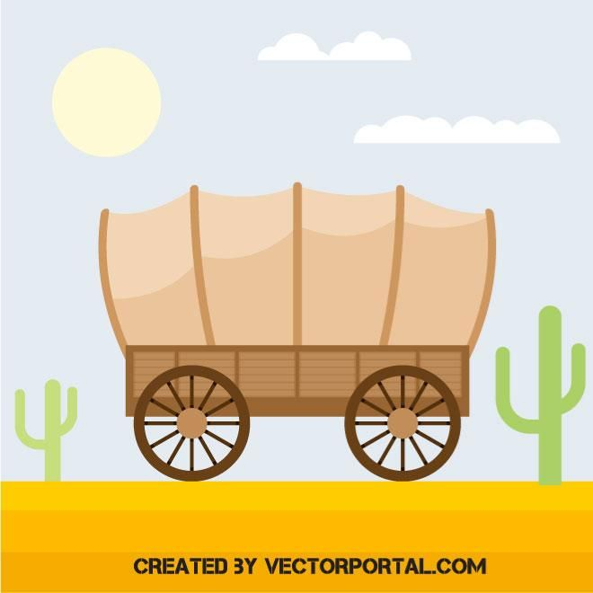 660x660 Covered Wagon Vector Image Vehicles Free Vectors