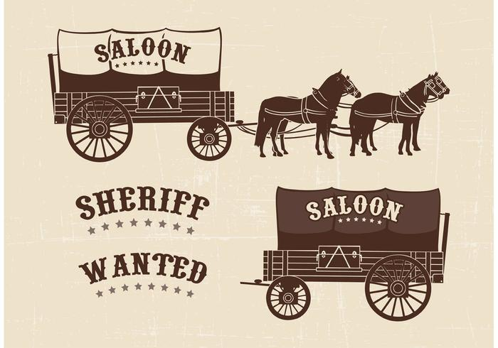 700x490 Free Covered Wagon Vector