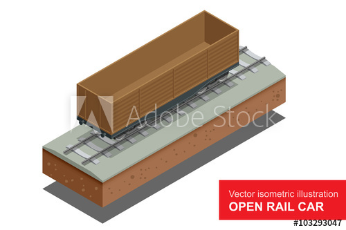 500x333 Open Rail Car For Transportation Of Bulk Cargoes. Rail Covered