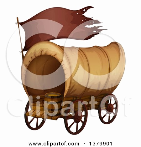 450x470 Pioneer Covered Wagon Clipart Awesome Royalty Free Rf Clipart Of