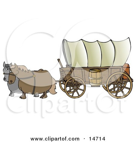 450x470 Pioneer Covered Wagon Clipart Royalty Free Rf Clipart Of Wagons