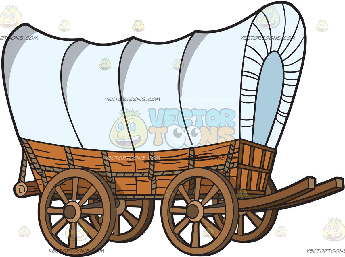1200x896 Prairie Schooner Covered Wagon Clip Art