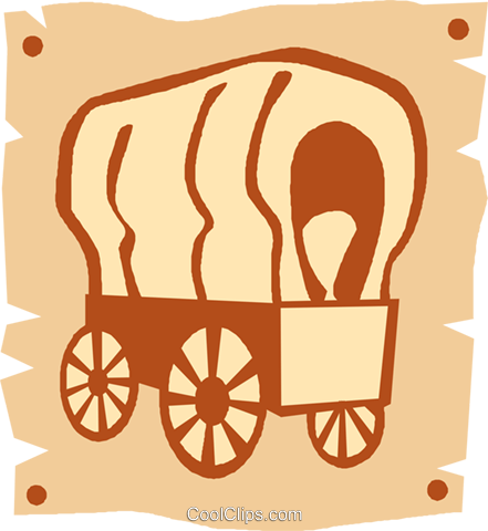 441x480 Covered Wagons Royalty Free Vector Clip Art Illustration Vc027371