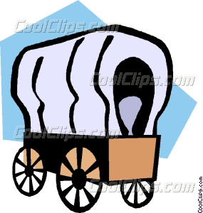 285x300 Covered Wagons Vector Clip Art