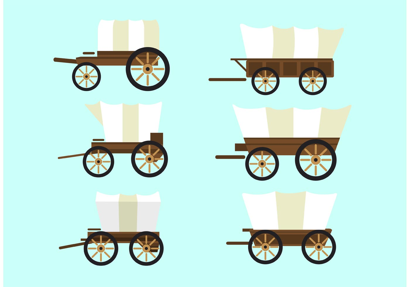 1400x980 Covered Wagon Free Vector Art