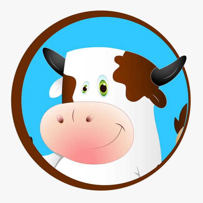 650x648 Cute Cow Head, Cow Vector, Head Vector, Hand Painted Cartoon Png
