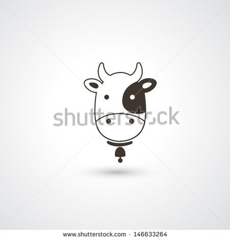 450x470 Cow Head Icon Vector To Draw Cow Head, Cow And Icons