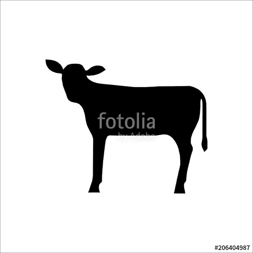 500x500 Cow Icon. Vector Illustration Stock Image And Royalty Free Vector
