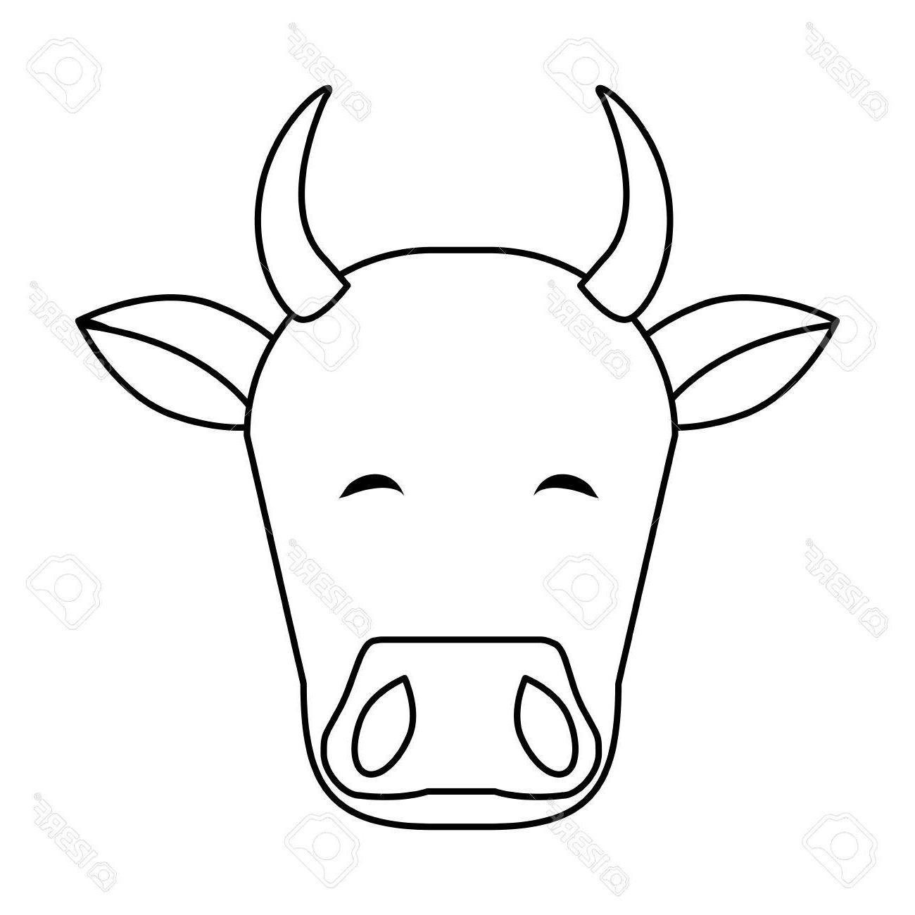 1300x1300 Top Indian Cow Head Icon Vector Illustration Graphic Design Images
