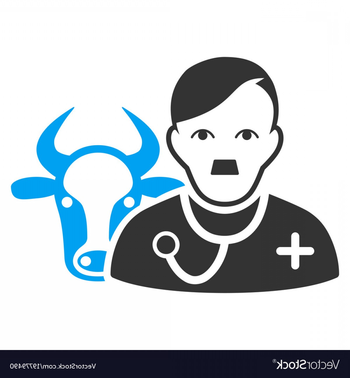 1200x1296 Cow Veterinarian Flat Icon Vector Rongholland