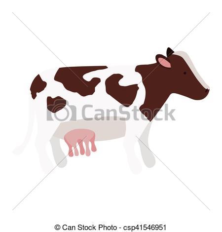 450x470 Cow Animal Icon. Cow Icon. Farm Animal Over White Background