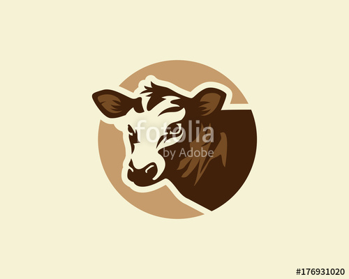 500x400 Cow Logo, Silhouette Of A Cow Head, Cow Vector Stock Image And