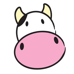 300x300 Cute Cow Clipart Simple Vector Illustration Of A Cute Cow Head