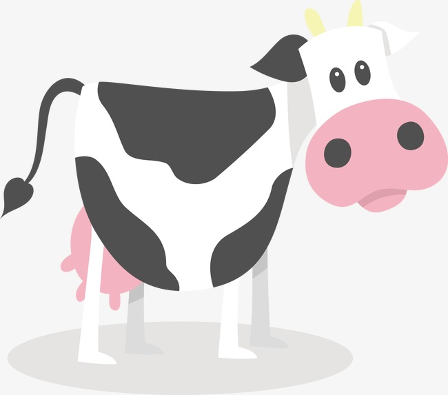 650x573 Cartoon Cow Vector, Cartoon Vector, Cow Vector, Black And White