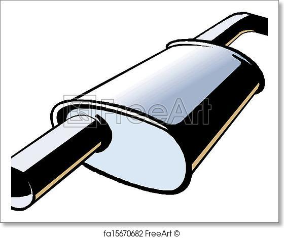 560x470 Free Art Print Of Car Exhaust. Vector Illustration Freeart