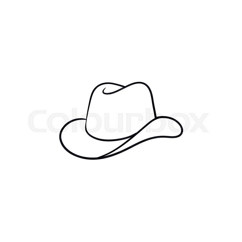 800x800 Cowboy Hat Hand Drawn Outline Doodle Icon. Western Cowboy Hat
