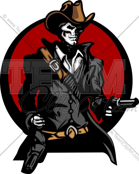 472x590 Skeleton Cowboy Image. Easy To Edit Vector Format.