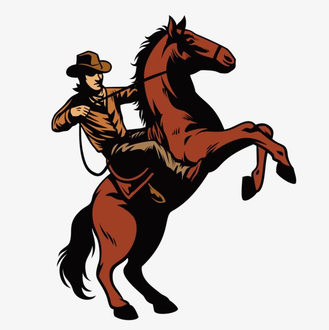 650x651 Cowboy Riding A Horse, Cowboy Vector, Horse Vector, Cowboy Png And