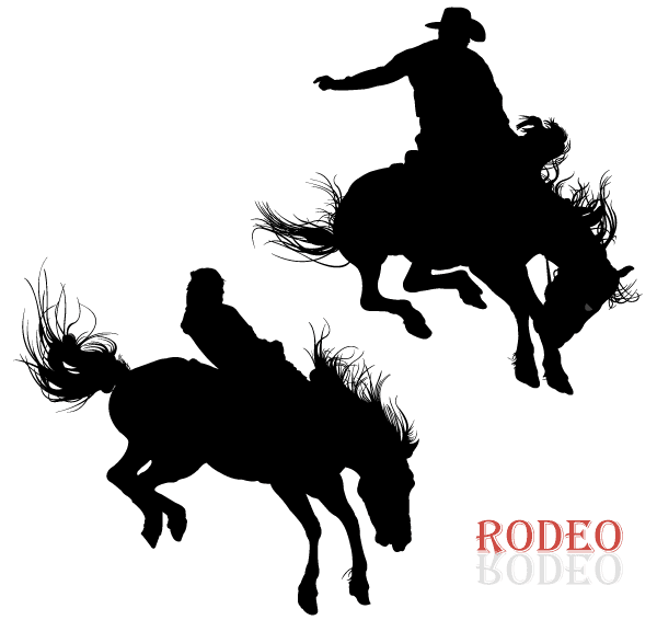 600x566 Free Cowboy Riding Horse In Rodeo Vector Art Psd Files, Vectors