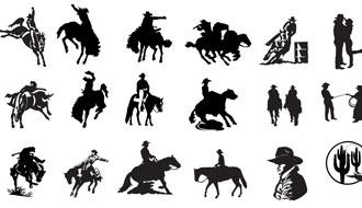 330x190 Free Cowboy Riding Horse Vector Art Webbyarts