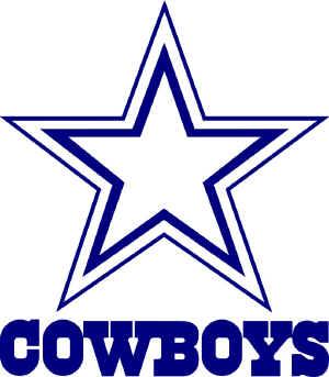 300x343 Dallas Cowboys Clipart