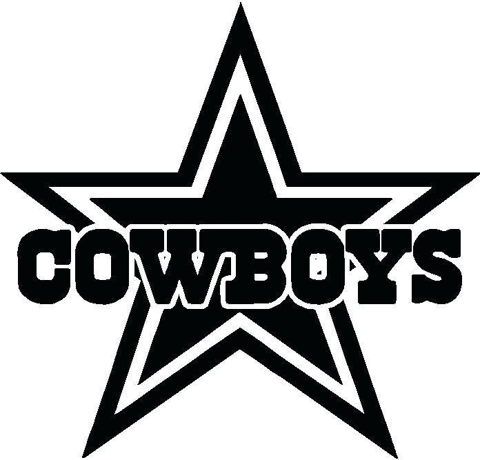 696x667 Dallas Cowboy Logo Vector Cowboys Coloring Pages