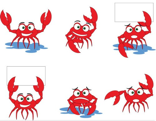 499x389 Cute Crabs Vector Graphic Ai Format Free Vector Download