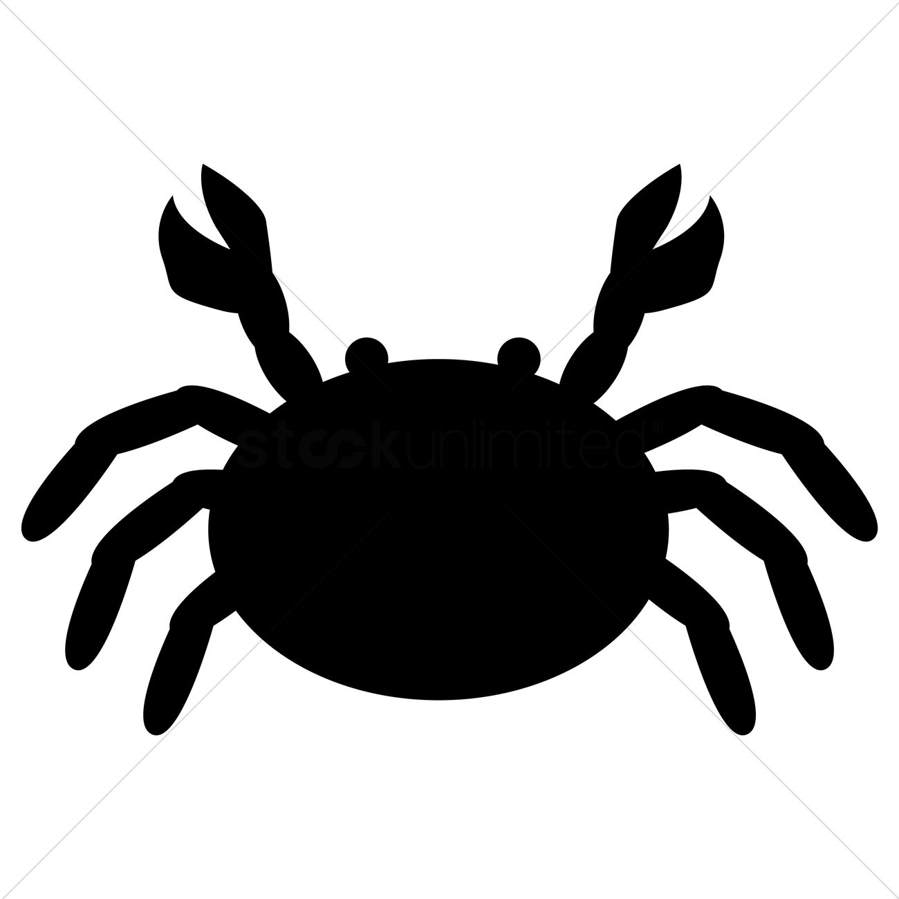 1300x1300 Silhouette Of Crab Vector Image
