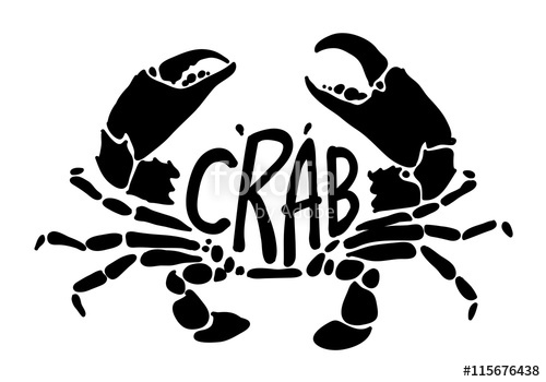 500x350 Black Crab, Vector Stock Image And Royalty Free Vector Files On