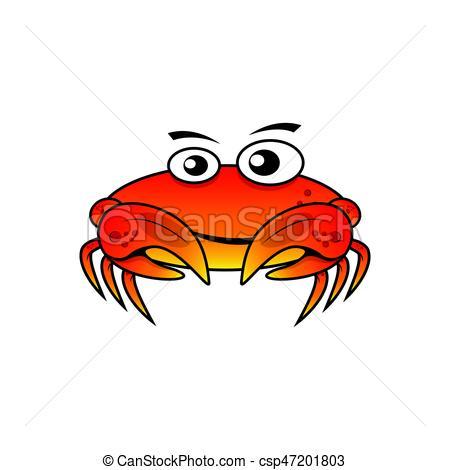 450x470 Character Crab Vector Illustration Vector Clipart