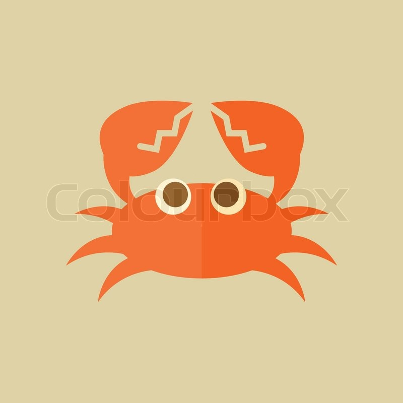 800x800 Crab. Food Flat Icon. Vector Eps 10. Stock Vector Colourbox
