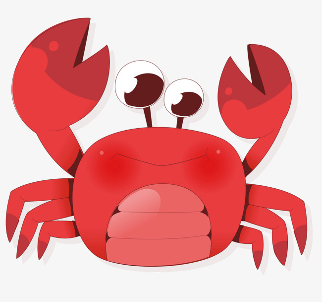 650x608 A Red Crab, Crab Vector, Vector Diagram, Red Crabs Png And Vector