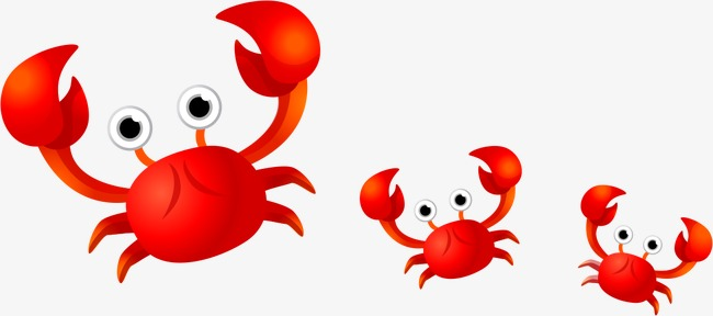 650x288 Cute Crab, Crab Vector, Vector, Hand Painted Png And Vector For