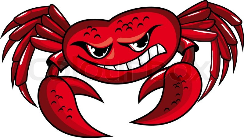 800x451 Danger Crab With Claws For Mascot Or Sailor Tattoo Design Stock