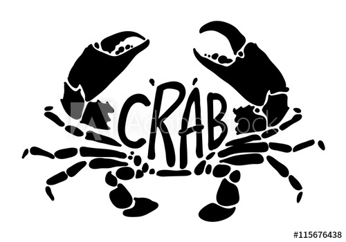 500x350 Black Crab, Vector