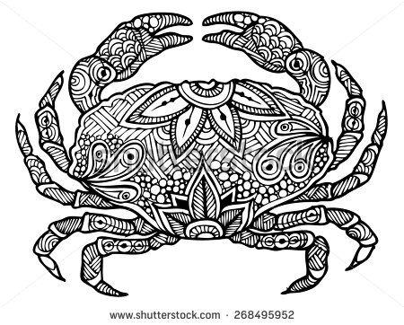 450x362 Zentangle Style Crab Vector