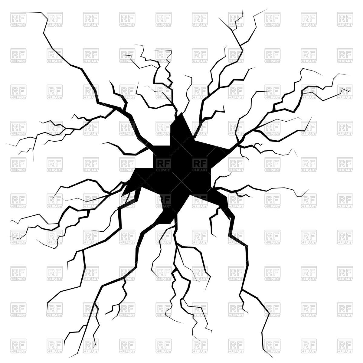 1200x1200 Crack For Disaster Design Vector Image Vector Artwork Of Design