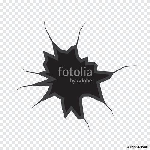 500x500 Earth Crack Vector, Rip Through On White Transparent Background