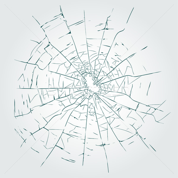 600x600 Cracks, Broken Glass Vector Vector Illustration Andrei Malysh