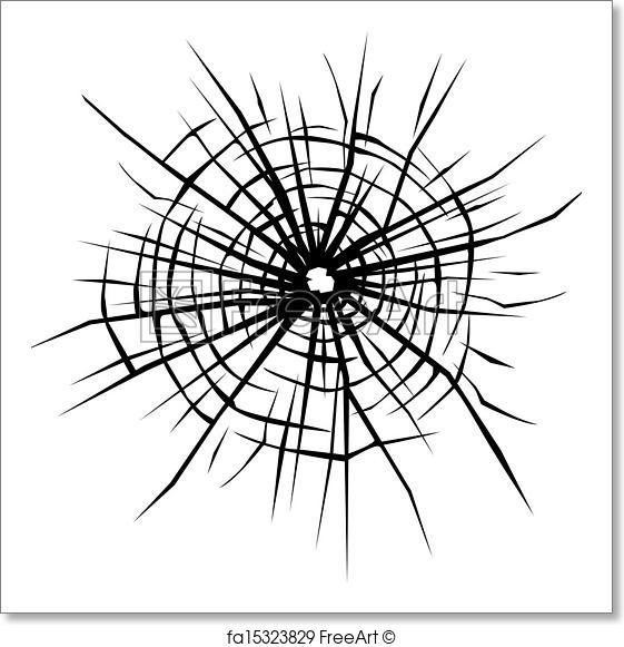 561x581 Free Art Print Of Broken Glass Background . Broken Glass Vector