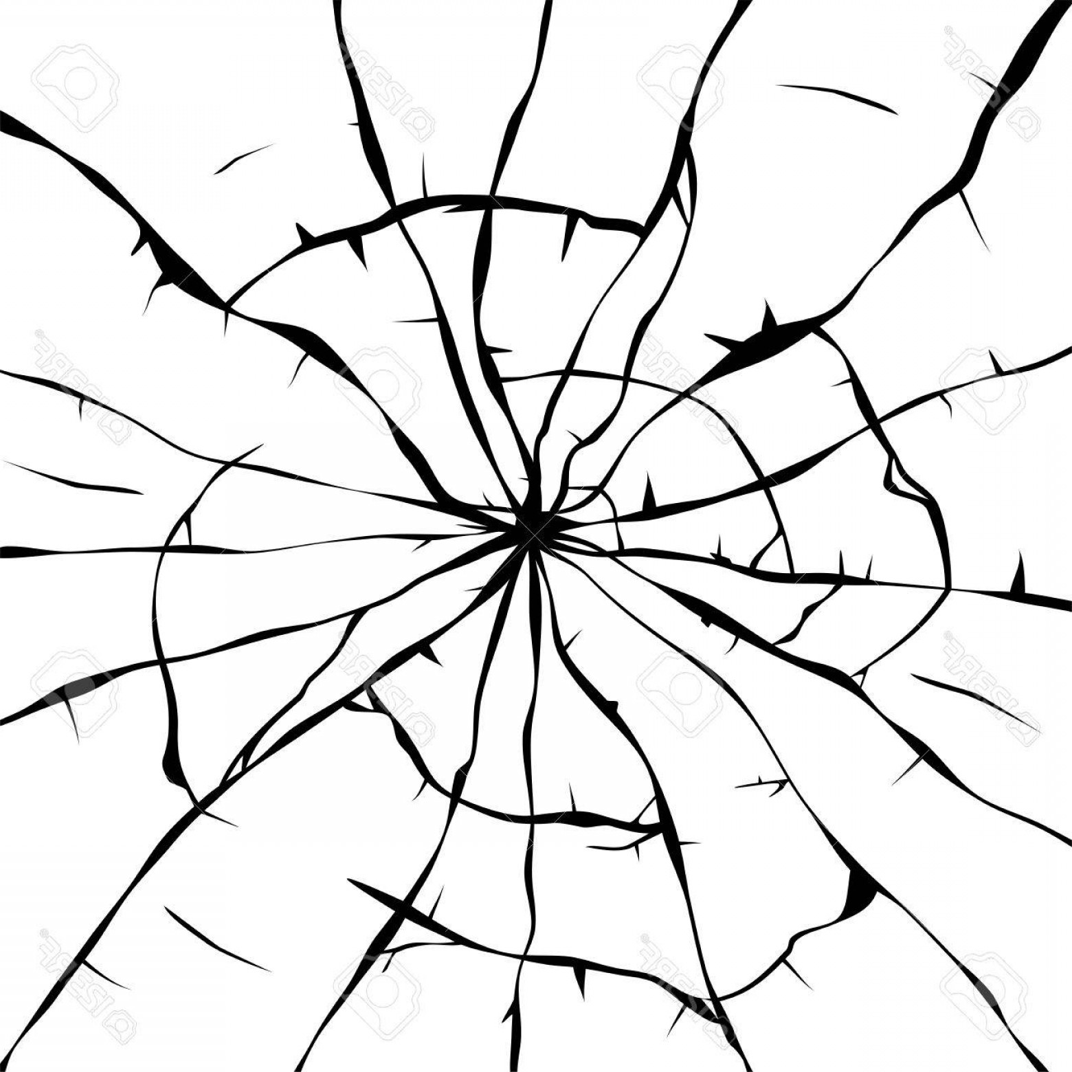1560x1560 Photostock Vector Black And White Background Of Broken Glass
