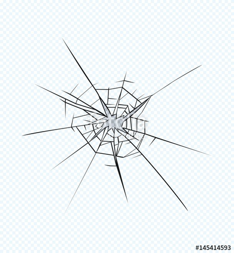 462x500 Broken Glass Effect. Hole In The Broken Glass .vector Illustration
