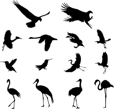 386x368 Crane Bird Silhouette Free Vector Download (7,954 Free Vector) For