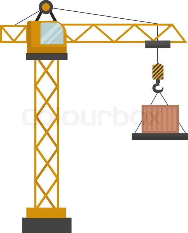 646x800 Construction Crane Vector Illustration. Construction Crane