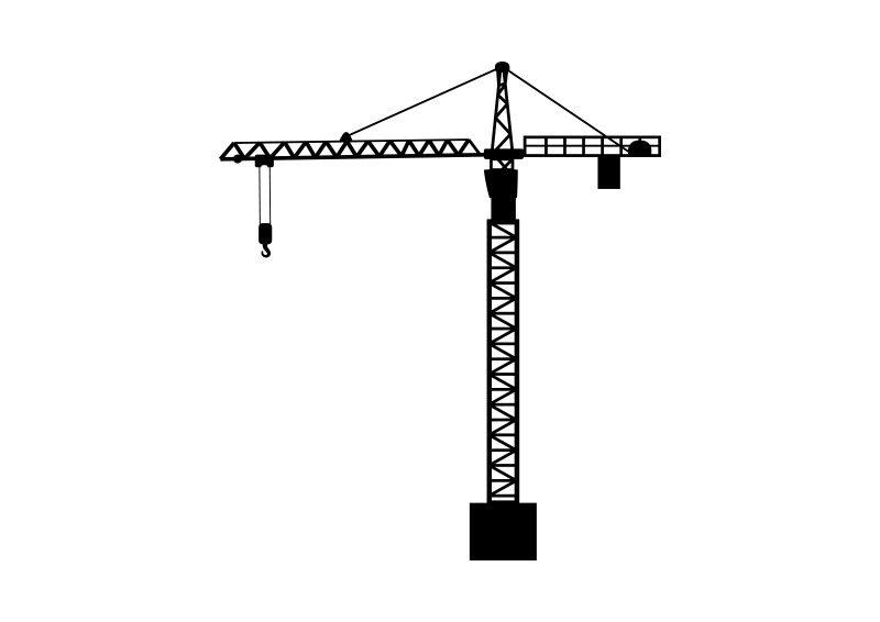 800x566 Crane Vector Silhouette