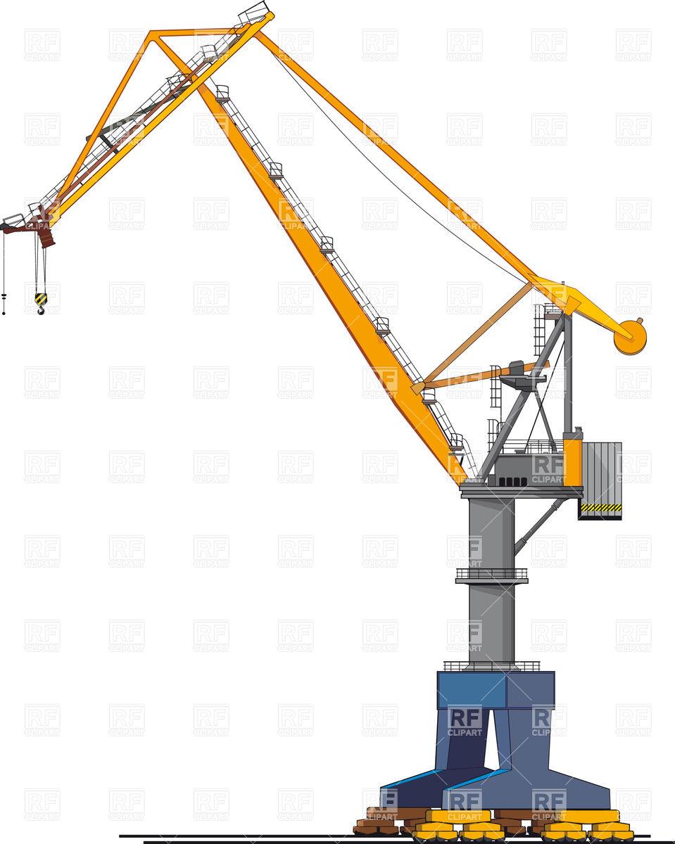 959x1200 Harbour (Wharf) Crane Vector Image Vector Artwork Of Technology