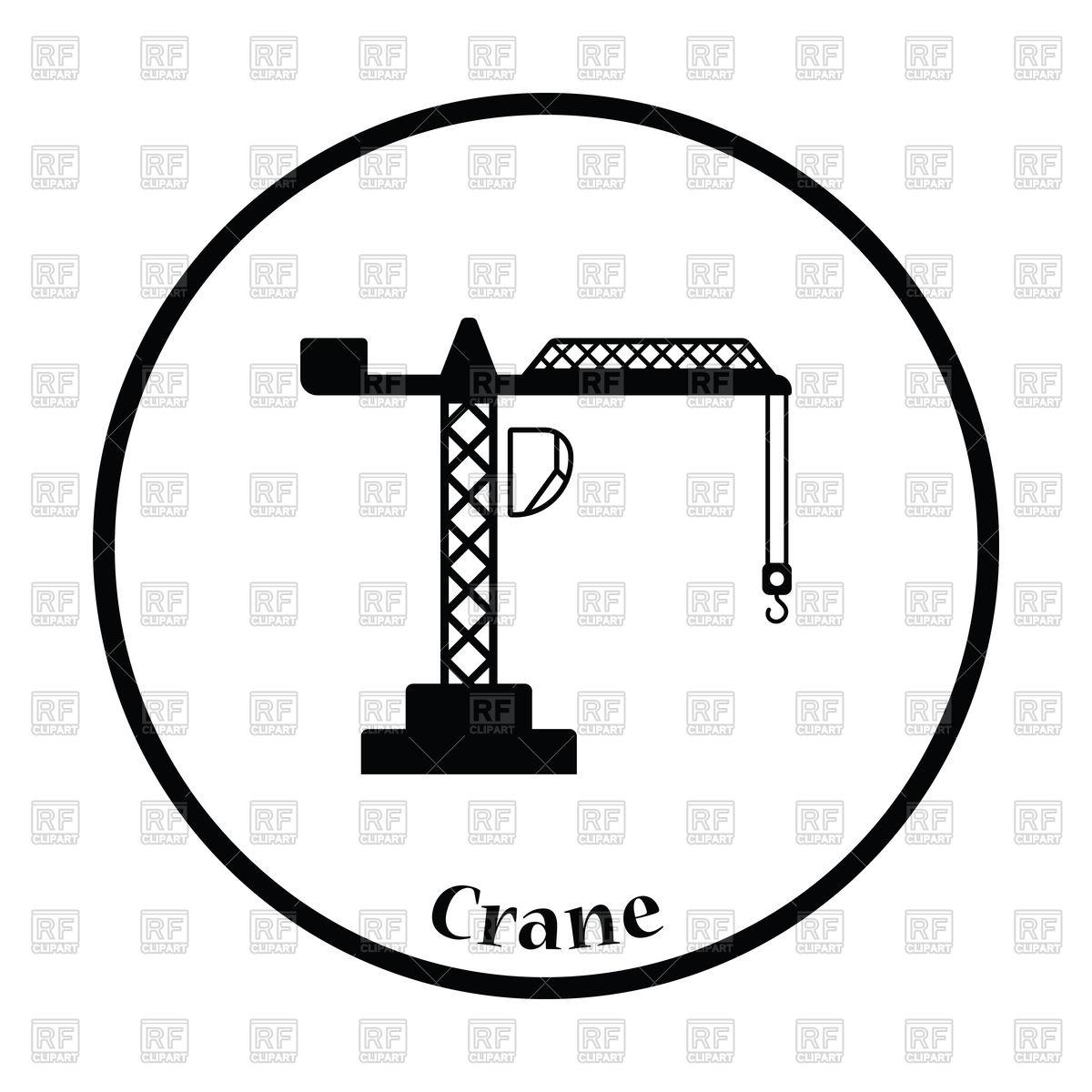 1200x1200 Icon Of Crane Vector Image Vector Artwork Of Signs, Symbols