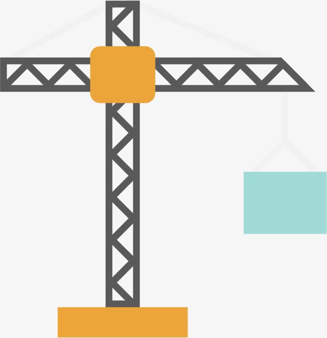 650x670 Real Estate Construction Crane Vector Material, Construction