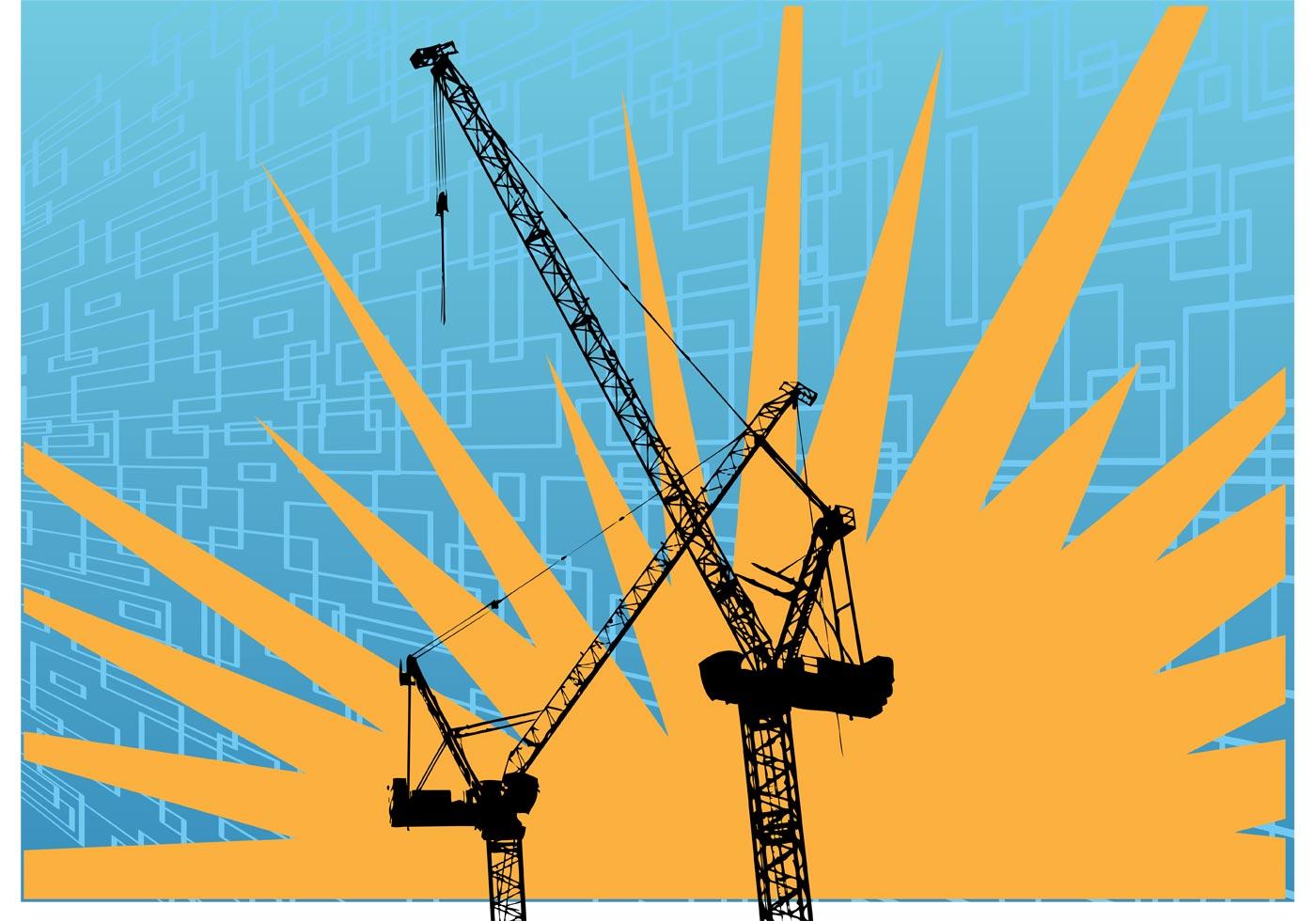 1400x980 Tower Crane Free Vector Art