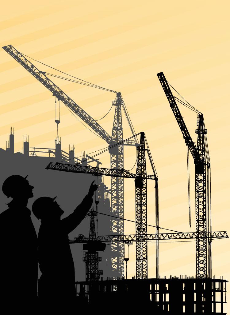 750x1024 Building Crane Vector
